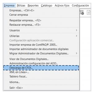 Módulo de descarga CONTPAQi Contabilidad 13