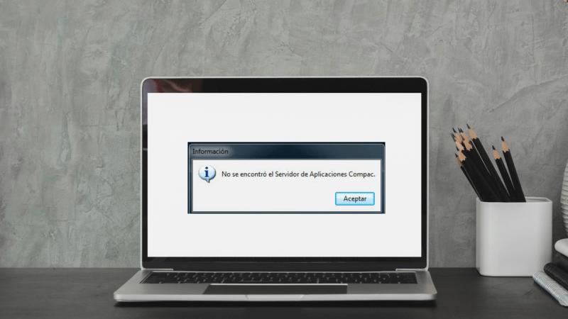No se encontró el servidor de aplicaciones COMPAC