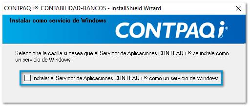 Servidor de aplicaciones CONTPAQi sin inicio de windows