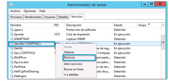 reiniciar servidor de aplicaciones contpaqi paso 3